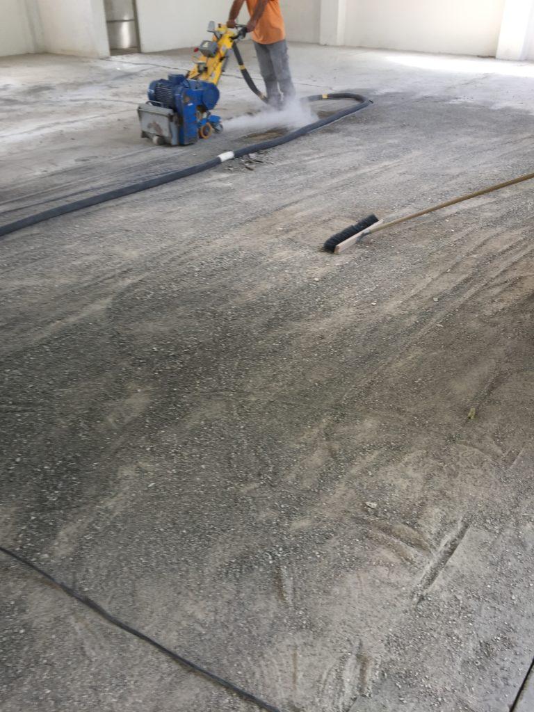 sottofondo pavimento industriale